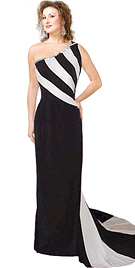 black-and-white-stripe-evening-gown