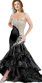 black-satin-cocktail-gown