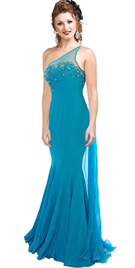 one-shoulder-chiffon-beaded-mermaid-gown