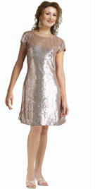 sequined-net-with-satin-short-dress