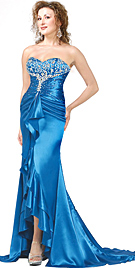 shirred-satin-evening-dress