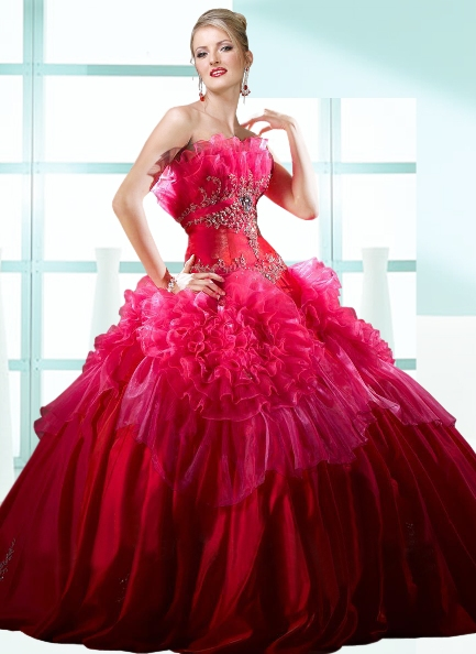 Ravishing Ruffled Ball Gown