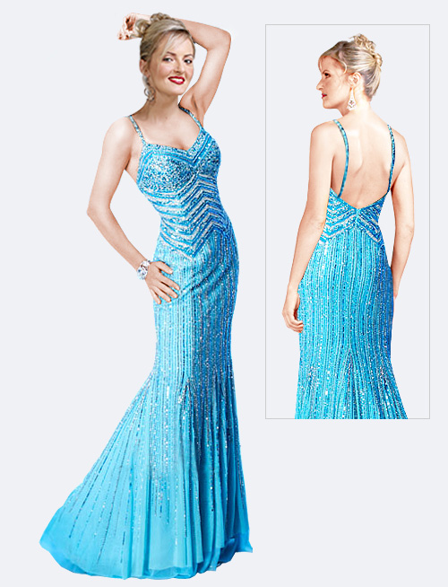Exclusively Spangled Glamorous Gown