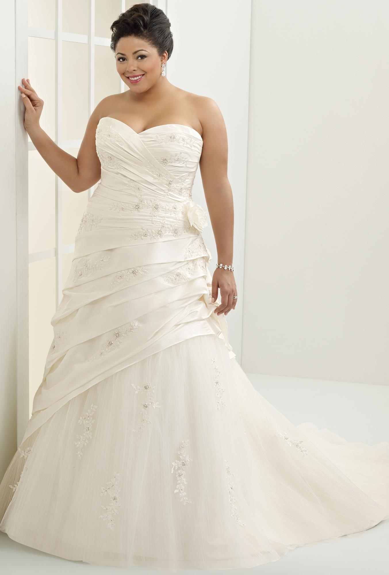 Theglamouraidecoration fashion advice for plus size women for Plus size wedding dresses for cheap
